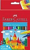 Faber-Castell 554202 - Estuche cartón con 24 rotuladores escolares