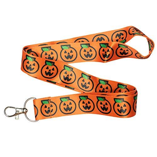 Jack O Lantern Kürbis Halloween Schlüsselanhänger, Orange