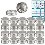 ZEOABSY100 Piezas Tarros de Aluminio con Tapa Rosca 30ml,Plata Tarros de...