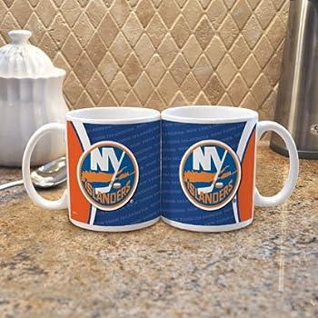 NHL New York Islanders 11-Ounce White Silhouette Mug  2 Pack
