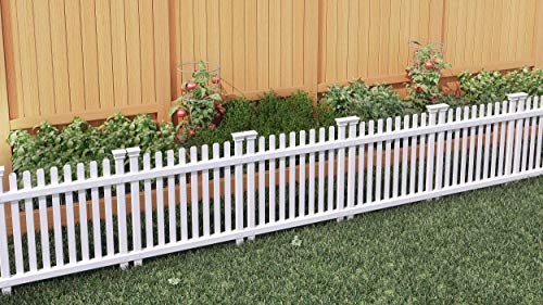 Zippity Outdoor Products ZP19056 No Dig Roger Rabbit Garden Fence (3 Pack), White