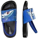 Sandalias Niños Chanclas,Zapatos de Ducha Niño Zapatos de Playa(28/29EU Tiburón-Azul)