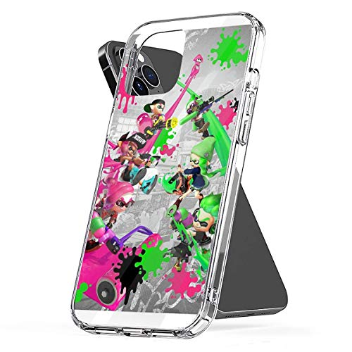 Phone Case Splatoon 2 Poster Compatible with iPhone 6 6s 7 8 X XS XR 11 Pro Max SE 2020 Samsung Galaxy Bumper Accessories Shock