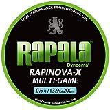 Rapala(ラパラ) PEライン ラピノヴァX マルチゲーム 200m 0.6号 13.9lb 4本編み ライムグリーン RLX200M06LG