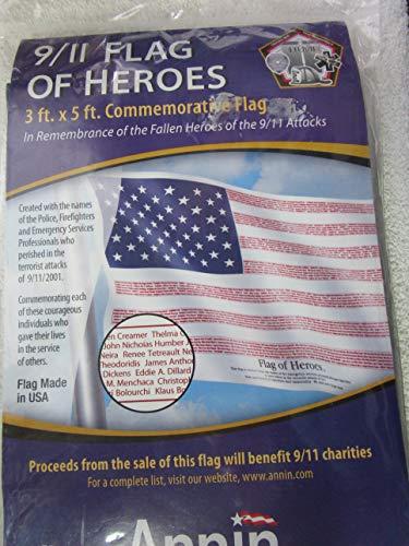 Annin Flagmakers Heroes of 9/11 Flag