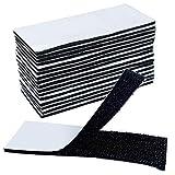 Akuoly Belcro Adhesivo Doble Cara 16 Pares Cintas de Velcro Gancho y Lazo Autoadhesivos, 4cm x 10cm por Pieza, Negro