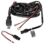 Primelux Universal 12ft Relay Wiring Harness for LED Light Bars Driving Lights Fog Lights Work Lights - 1 Lead(1x15A/16AWG)