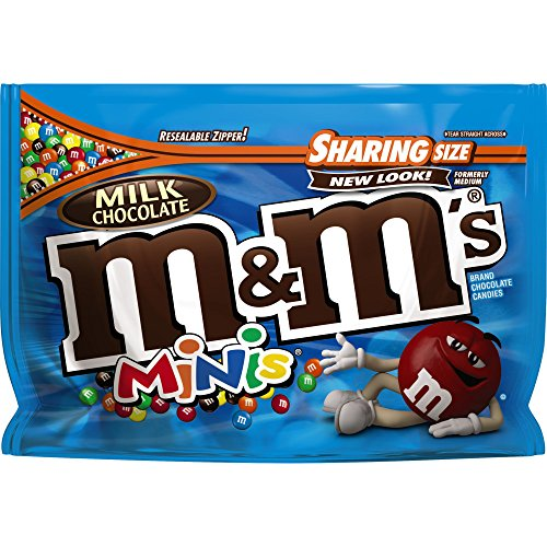 M&M'S Milk Chocolate MINIS Candy Sharing Size 10.1-Ounce Bag (Pack of 8)