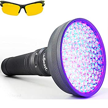 uvBeast V2 - Black Light UV Flashlight with HIGH DEFINITION with Flood Effect 385-395nm UV Best for Commercial/Domestic Use Works Even in Ambient Light – USA Stock – UK Design