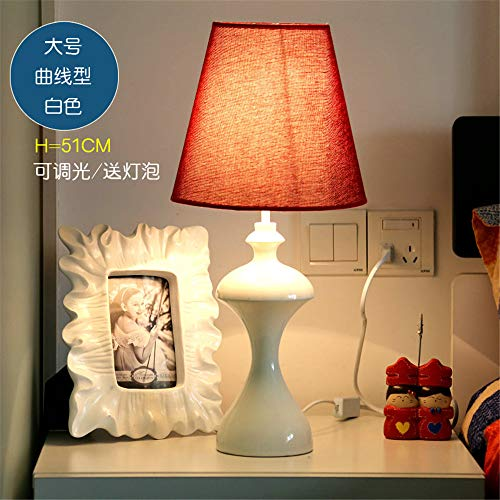 YU-K Lampe de bureau réglable LED lampe de chevet chambre à coucher lampe de table mariage créatif décor minimaliste,lampes 23 * 51cm, courbe