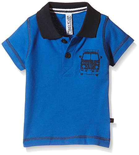 Magic Kids Basic-T-shirt Bambino, Blau (Turkish Sea 7077), 5-6 mesi (Taglia Produttore: 68)