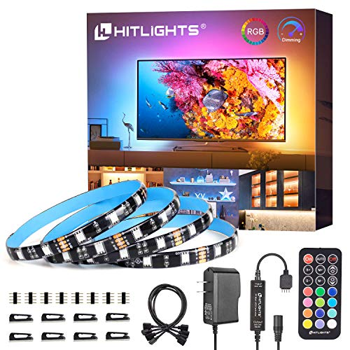 LED Strip Lights, HitLights Weatherproof 4 Pre-cut 12Inch/48Inch RGB LED Strips Kit, Flexible Color Changing SMD 5050 LED Accent Kit with RF Remote, UL-Listed 15W Power Supply and Connectors