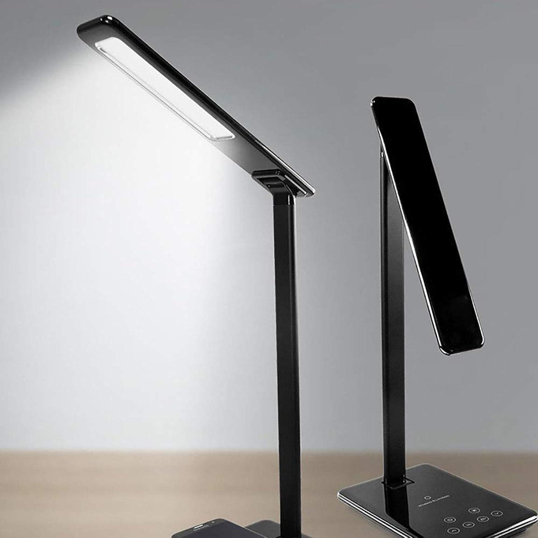 Lyf Handy Wireless Aufladung LED-Tischlampe Stufenlose Berührung Dimming 4 Datei Farbtemperatur Timing Mit USB-Ausgang Aufladen Augen Tischlampe,schwarz