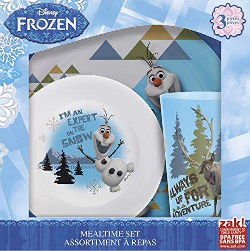 Disney Frozen Olaf The Snowman 3 Piece Bowl, Plate & Beaker Vaisselle Repas Set