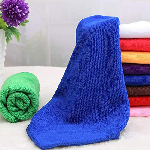 LASISZ Fibre Towel for Swimming Pool Camping Travel Sports Yoga 25 * 25cm/30 * 70cm Microfiber Bath Towel Terry Fabric Muslin Face Cloths,Navy Blue,M
