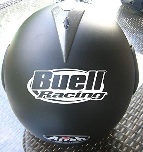 SUPERSTICKI Buell Racing Helmaufkleber Helm Motorrad Aufkleber Bike Auto Racing Tuning aus Hochleistungsfolie Aufkleber Autoaufkleber Tuningaufkleber Hochleistungsfolie für alle glatten Flä