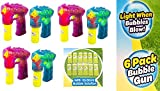 Best Bubble Guns - Oojami 6 Pack Bubble Gun Shooter with LED Review