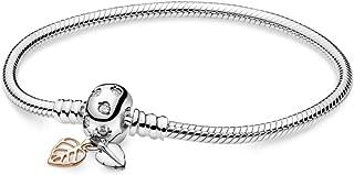 Moments Leaves & Snake Chain PANDORA Rose Bracelet