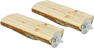 Accessories for Bird- 2Pcs Parrot Hamster Wooden Springboard Small Pet Platform DIY Pet Cage Pedal Decoration Supplies