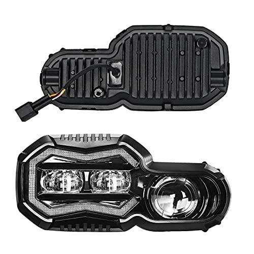 Fpzhong Faros De Motocicleta para BMW F 650 700 800 GS F800R F800GS Aventura LED Proyector Linterna Montaje con Haz/Lo (Color : Headlight)