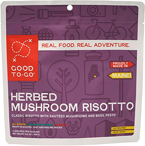 GOOD TO-GO Herbed Mushroom Risotto - Double Serving | Dehydrated Backpacking and Camping Food | Lightweight | Easy to Prepare