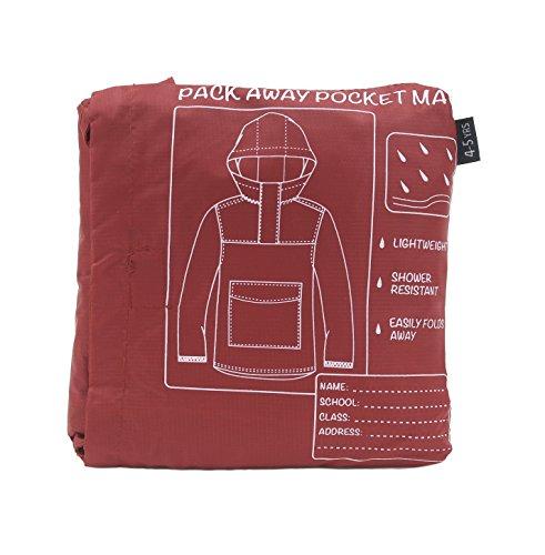 Kinder Shower wiederständig Pac A Mac/Regen Mantel/Kagool ~ 4-12 Jahre - Rot, 134-140