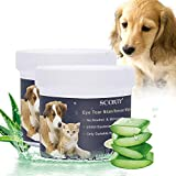 SCOBUTY Pet Wipes,Pet Eye Wipes,Pet Tear Stain Wipes,Natural Tear Eye Stain Remover Pads for Pets, Cleansing Eye Wipes,Eyes Gentle Tear Pads Stain Wipes