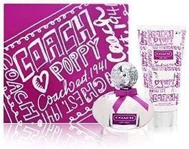 Čoåch Põppy Flôwer Perfumé Gift Set for Womén Eau De Parfum Spray 1 oz. & Body Lotion 3.4 oz.