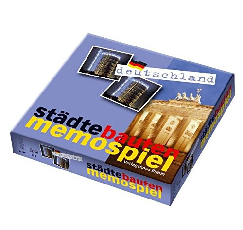 StädteBautenMemoSpiel Deutschland. Spieleranzahl: 2-8. Mit Booklet in 6 Sprachen, 16 S.