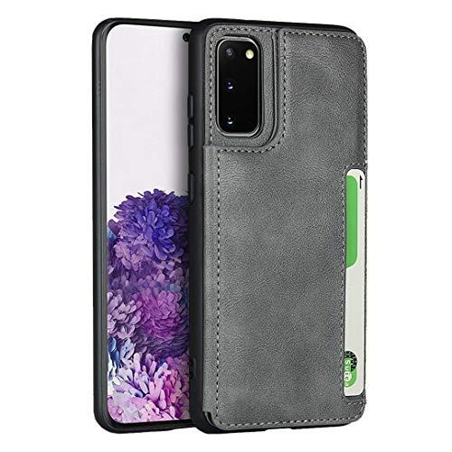 Funda tipo cartera para Samsung Galaxy S20, color gris