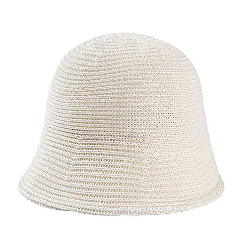 Gorras de mujer Sombrero al aire libre cuenca del Ocio - Lana color sólido del sombrero del sombrero del cubo femenino del otoño y del invierno Pescador sombrero tejido de lana retro cuenca del sombre