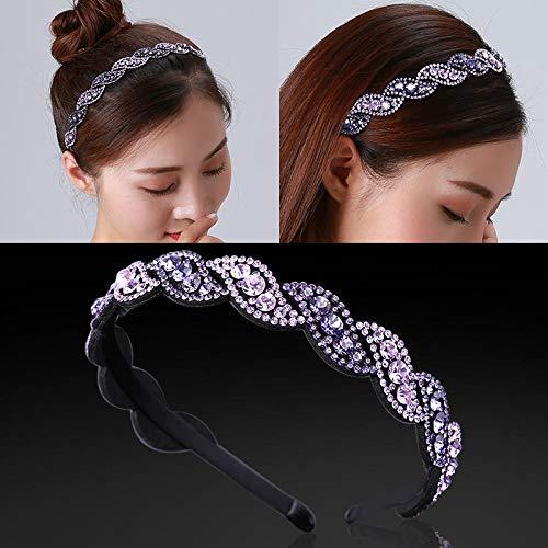 Korea toothed hair adult hair clip headband wide side out slip non-slip rhinestone elegant temperament headband hair accessories female