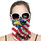 N / A Magic Headband,Fascia per Capelli Eagle Over The USA Flag Uomo Donna, Bellissimi Passamontagna da Collo per Lo Sci Motociclistico,25x50cm