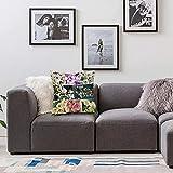 Bedsure Funda Cojin 40x40cmCerezo, Collage de Primavera con Twiggy Cherry Blossom Árboles de Sakura y Ramas de jazmín, multiFunda de Almohada Cuadrada para Sofá, Dormitorio y Sala de Estar