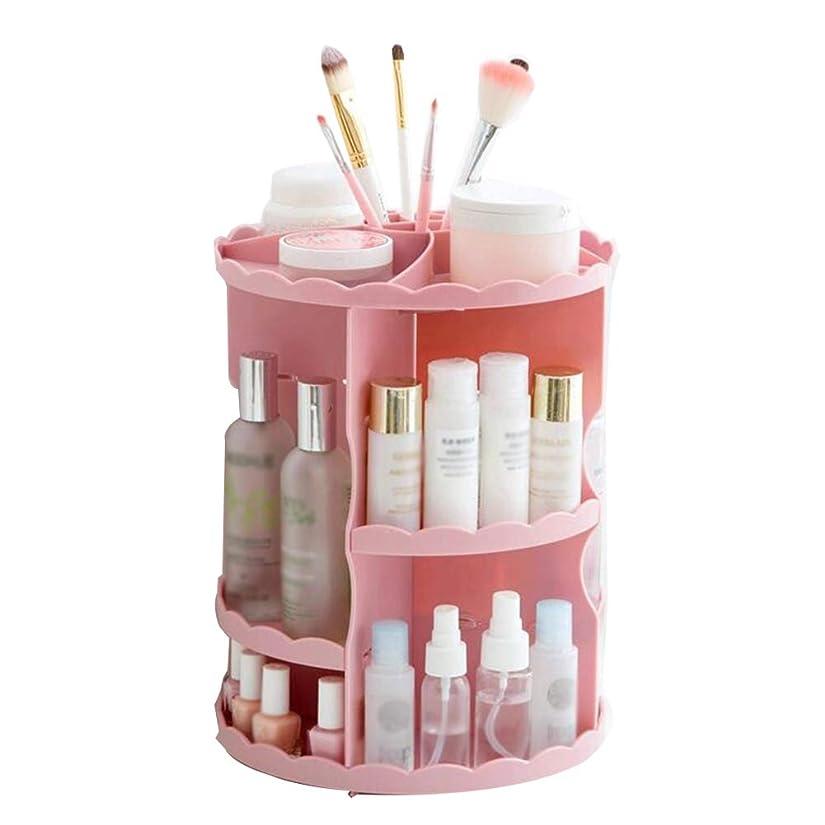 シマウマ香水の中で360回転化粧オーガナイザー多機能化粧品収納ボックス調節可能な化粧品の カウンタートップやバスルームに最適