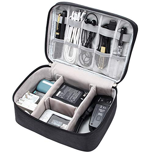 Electronic Organizer Travel Universal Cable Organizer Waterproof Electronics Accessories Storage Cases for Cable Charger Phone USB SD Card Hard Drives Power Bank Cords