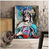Banksy Game Changer Nurse Tribute Lienzo Pintura Carteles Impresiones Arte de la pared Imágenes Decoración del dormitorio 12x16 pulgadas (30x40cm) x1Sin marco