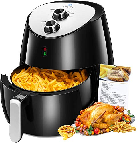 Air Fryer, Tidylife 1700W Hot Air Fryer Family Size 5.8 Qt with Dishwasher Safe Parts, BPA Free, 8-in-1 Air Fryer with Smart Time,Temperature Control, Auto Shut Off and 50+ Recipes