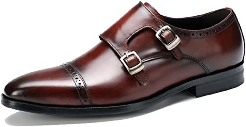 estilo clásico YCGCM zapatos De Cuero con Hebilla para