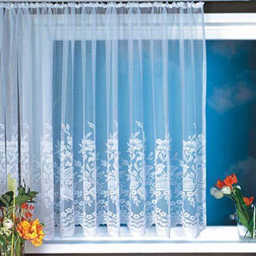 Eastery 1Er Pack Gardine Weiß Vorhang Aus Hochwertigem Jacquardstore Mit Transparentem Einfacher Stil Oberstoff Bogengardine #1 B H 300 145Cm (Color : #6, Size : W*H 500X145Cm)