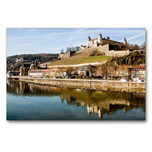 CALVENDO Premium Textil-Leinwand 90 x 60 cm Quer-Format Festung Marienberg Würzburg, Leinwanddruck von Oliver Pinkoss