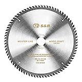 S&R Lama per Sega Circolare 254. Disco Smerigliatrice Taglio Legno Professionale (254 x 30...
