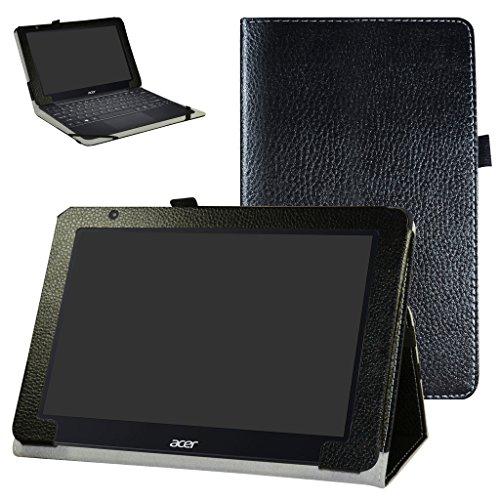 """Acer One 10 S1003 Custodia,Mama Mouth slim sottile di peso leggero con supporto in Piedi caso Case per 10.1"""" Acer One 10 S1003 Windows 10 Tablet 2016,Nero"""