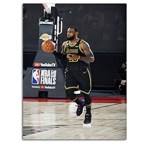 Póster de baloncesto Ghychk Superstar King Lebron-James con obras de arte de moda, impresión de pared para sala de estar, decoración del hogar y decoración de pared, sin marco, 45 x 60 cm
