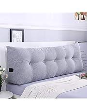 単色 ウェッジ枕 三角ヘッドボードクッション,シートクッション 背もたれ位置サポートベッド読書枕カバー 腰椎パッド