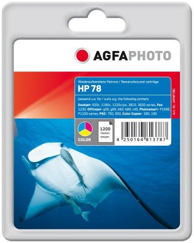 AgfaPhoto Tintenpatrone mehrfarbig kompatibel zu HP78 (C6578AE) geeignet für HP Deskjet 940 C, 916c, 920c, 930c/cm, 932c, 935c, 950c, 952c, 959c, 960c, 970cse/cxi