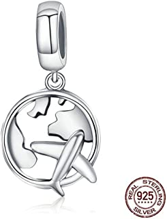 ZRBC 925 Sterling Silver The Dream Of Traveling Dangle Beads Fit Original Charm Bracelet DIY Jewelry Gift CQC242
