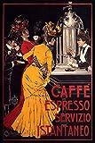 Caffe Espresso Servizio Instaneo - Vintage Italian Advertising Poster Reproduction (18 x 24)