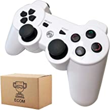 Wireless PS3 Controller Dualshock 3 with Playstation 3 Controller, Built-in-Double Vibration Motors with Sensitive Motion Control. (White)