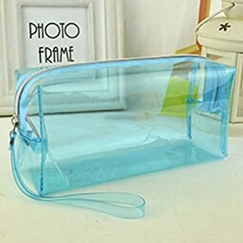 AMA-StarUK36 PVC mit großer Kapazität Einhorn Studenten Mäppchen Federmäppchen Schlamperbox schuletui Schulmäppchen Mäppchen teenager Federmäppchen(blue)